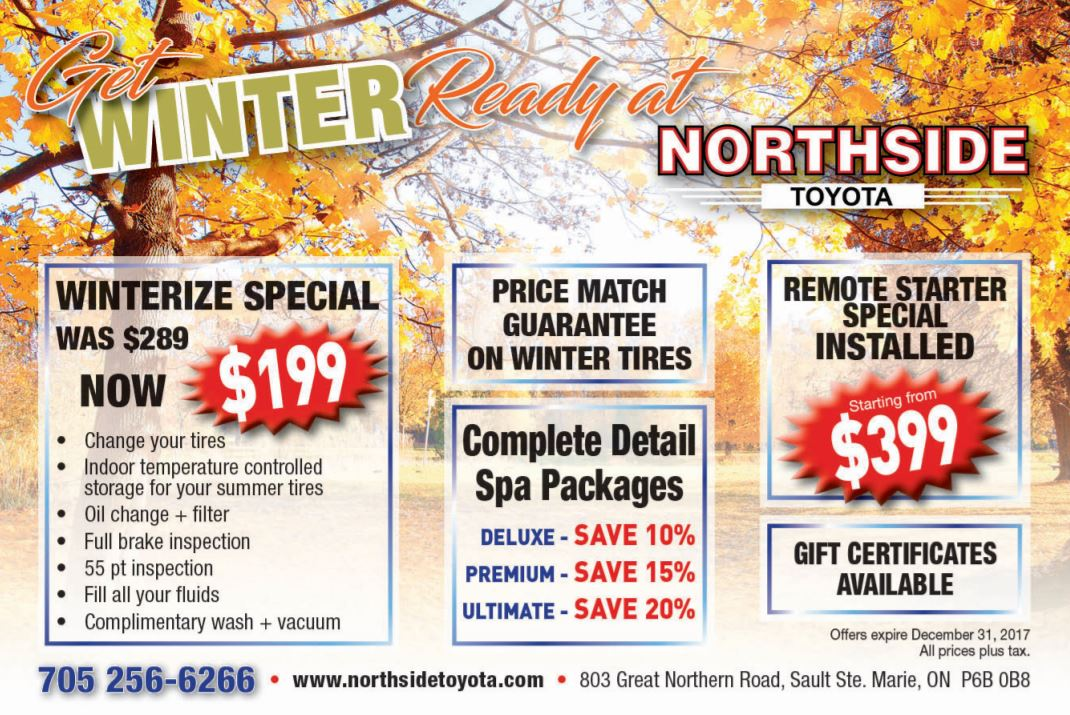 WINTER READY SPECIALS