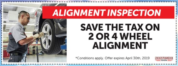 SAVE THE TAX ON 2 or 4 Wheel ALIGNMENT