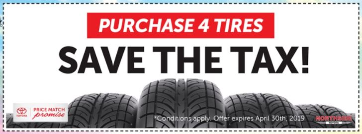 PURCHASE 4 TIRES – SAVE THE TAX