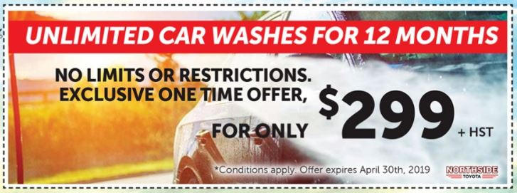 UNLIMITED CAR WASHES FOR 12 MONTHS