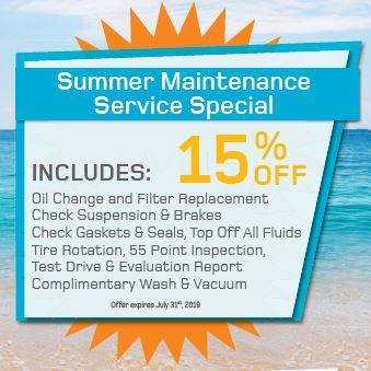 Summer Maintenance Service Special
